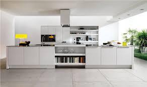 Kitchen  White Contemporary Kitchen Design Ideas With Perfect - White contemporary kitchen