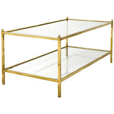 Elegant Coffee Table:Brass Glass Coffee Tables Jacques Adnet Style Vintage Simple  Table Sets Small Space Photo Gallery