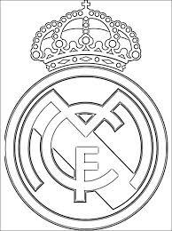 Kleurplaat Van Real Madrid Cf Logo Gratis Kleurplaten