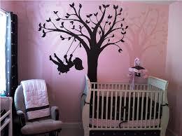 baby girl room nursery wall murals