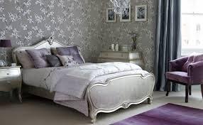 Silver Purple Bedroom Home Design