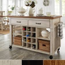 Amazing Eleanor Two Tone Rolling Kitchen Island With Wine Rack By INSPIRE Q Classic