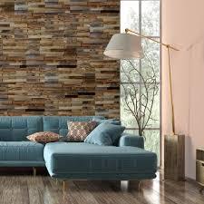 natural wood stacked wall panels get