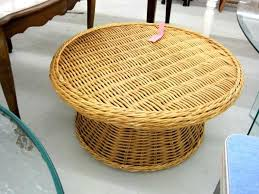 indoor outdoor round rattan coffee table modern house design glass top brown garden full size