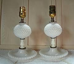 milk glass lamps value