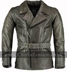 3 4 distressed ed long motorcycle jacket