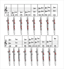 Flute Finger Chart All Notes 60 Qualified Flute Chart Notes