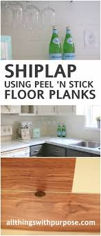 create the look of shiplap with l and stick vinyl flooring