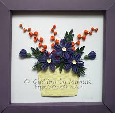 Paper Quilling Flower Frames A Basket Of Quilled Flowers