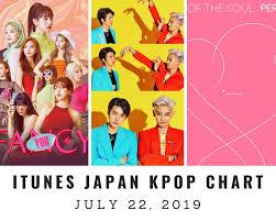 Sa Itunes Chart Itunes Japan Itunes Kpop Chart July 22nd 2019 2019 07 22