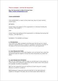 Lending Agreement Sample Moontex Co