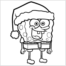 Spongebob Christmas Coloring Pages Coloringstar