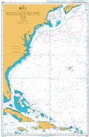 British Admiralty Nautical Chart 4403 Southeast Coast Of North America Including The Bahama Islands And Greater Antilles