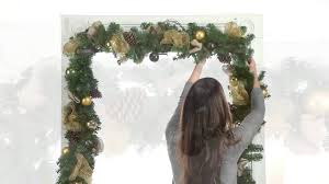 how to hang garland around front doorGarland Hangers Christmas Decoration Improvements Catalog  YouTube