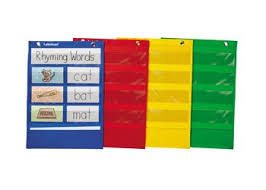 Magnetic Pocket Charts Set Of 4 Pocket Charts Rhyming