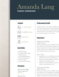 Modern Resume Template Professional Resume Template Word Rumble
