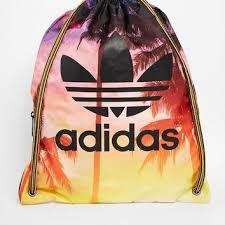 adidas drawstring bag. adidas originals drawstring backpack in palm print bag s