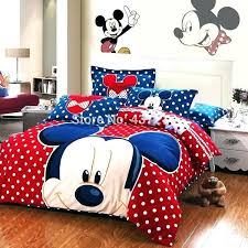 red queen size comforter set mickey mouse comforter set new mickey mouse polka dots red blue