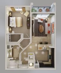 50 One U201c1u201d Bedroom Apartment/House Plans