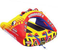 Amazon.com : Sportsstuff Poparazzi 2   1-2 Rider Towable Tube for Boating :  Sports & Outdoors