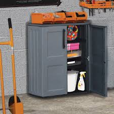 shire plastic mid storage cupboard with