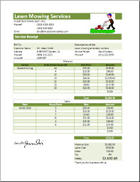 lawn care templates ms excel printable lawn mowing receipt template receipt templates