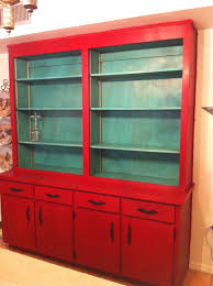 chalk paint kitchen cabinets. Red Wooden Kitchen Cabinet With Open Shelves Amazing Chalk Paint Cabinets