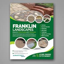 Franklin Landscape Design Construction Fencing Flyer Design For Franklin Landscapes By Mariyam