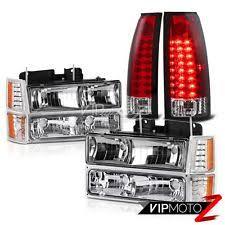 97 gmc sierra tail lights 94 95 96 97 98 gmc sierra ck 1500 2500 red led signal tail lights headlight