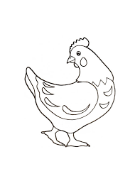 Small Picture How to Draw a Hen Coloring Page Coloring Sky