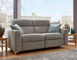 elaine 3 seater fabric recliner sofa