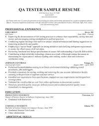 Resume Template Qa Testing Sample Free Maker 8710 Behindmyscenes Com