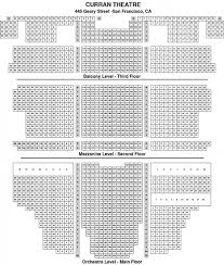 Uncommon Curran Theatre Seating Curran Seat Map Curran