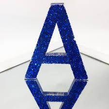 Blue Letters Resin Letters Glitter Royal Blue