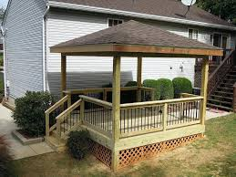 gallery free standing roof over deck diy home design furniture