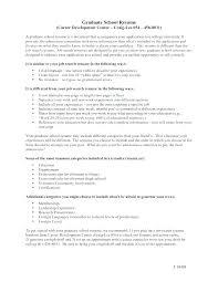 Graduate School Resume Sample Cool Graduate School Resume Format Examples Of Graduate School Resumes