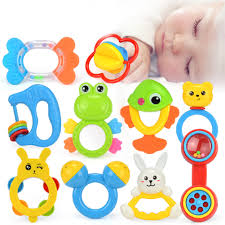 baby rattles teether toys infant shaking bell rattle set early educational toys for 3 6 9 12 month baby infant newborn walmart