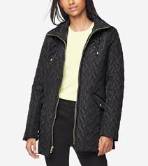 Womens Signature Barn Jacket With Hood In Black Cole Haan Us