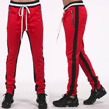 Basket Pant Design Wholesale Custom Logo Mens Plain Basketball Track Pants Double Stripe Slim Fit Fitness Sport Jogger With Zipped Ankle Sweat Pant View Mens Track
