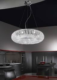 carla chrome 5 light crystal ceiling light pendant kolarz lighting