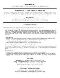Sample Resume For Procurement Officer Sourcing Manager Resume