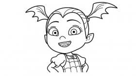 Vee and demi digital colouring page. Printable Disney Junior Vampirina Coloring Pages Coloring Home