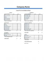 Pro Forma Example Pro Forma Balance Sheet Template Dumbing It Down