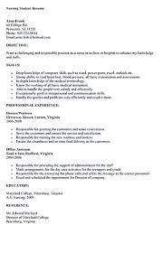 Nursing Graduate Resume Resume Nursing Student Resume Templates Awesome Gallery