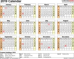 Absentee Calendar 2019 Calendar Pdf 17 Free Printable Calendar Templates