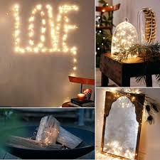 led battery powered copper wire string lights for festival wedding threshold brown wedd