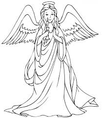 Small Picture Download Coloring Pages Angel Coloring Page Angel Coloring Page