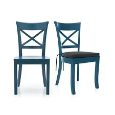 dining chairs astonishing blue wood dining chairs navy