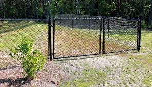 Image Sliding Residential Black Chain Link Double Drive Gate Americas Fence Store Residential Black Chain Link Double Drive Gate Americas Fence Store