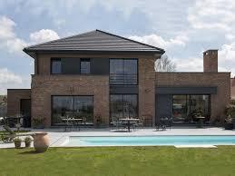 Pouwels_hab_jardin_maison_semi Cubique_briques Architek